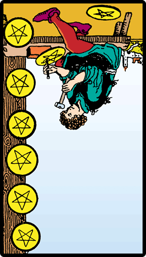 Eight of Pentacles (Reverse)