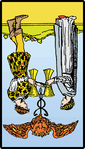 Two of Cups (Reverse)