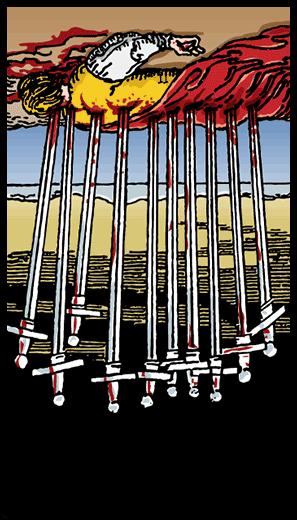 Ten of Swords (Reverse)