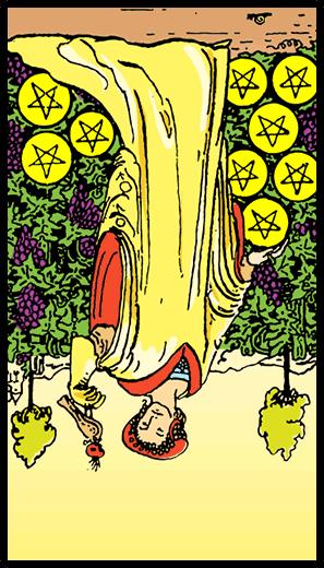 Nine of Pentacles (Reverse)