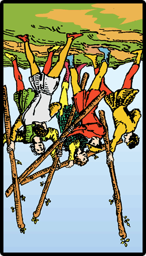 Five of Wands (Reverse)