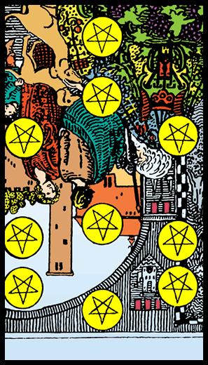Ten of Pentacles (Reverse)