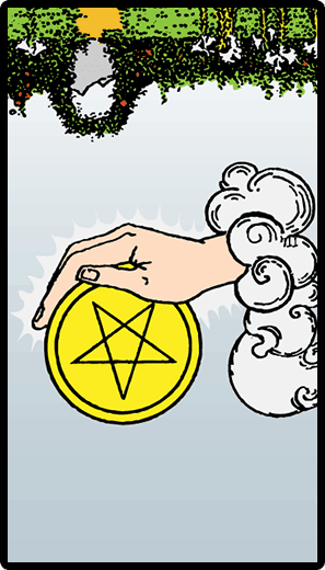 Ace of Pentacles (Reverse)